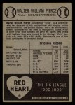 1954 Red Heart #24   Billy Pierce Back Thumbnail