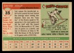 1955 Topps #35  Dave Jolly  Back Thumbnail