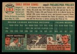 1954 Topps #183   Earle Combs Back Thumbnail