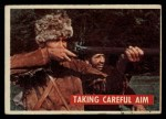 1956 Topps Davy Crockett #34 GRN Taking Careful Aim   Front Thumbnail