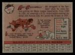 1958 Topps #191   Art Ceccarelli Back Thumbnail