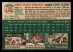 1954 Topps #138   Bob Borkowski Back Thumbnail