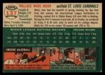 1954 Topps #137   Wally Moon Back Thumbnail