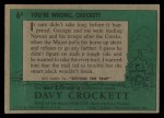 1956 Topps Davy Crockett #6 GRN  You're Wrong Back Thumbnail
