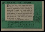 1956 Topps Davy Crockett #56 GRN Looking for Trouble   Back Thumbnail