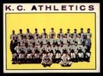 1964 Topps #151 COR Athletics Team  Front Thumbnail