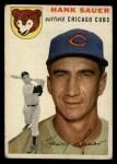1954 Topps #4  Hank Sauer  Front Thumbnail