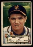 1952 Topps #101  Max Lanier  Front Thumbnail