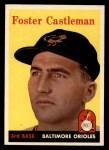 1958 Topps #416   Foster Castleman Front Thumbnail