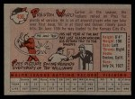 1958 Topps #450  Preston Ward  Back Thumbnail
