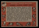 1958 Topps #351  Braves Fence Busters  -  Del Crandall / Eddie Mathews / Hank Aaron / Joe Adcock Back Thumbnail