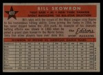 1958 Topps #477  All-Star  -  Bill Skowron Back Thumbnail