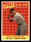 1958 Topps #477  All-Star  -  Bill Skowron Front Thumbnail