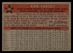 1958 Topps #493  All-Star  -  Bob Turley Back Thumbnail