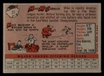 1958 Topps #37   Mike McCormick Back Thumbnail