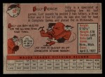1958 Topps #50 ^WT^ Bill Pierce  Back Thumbnail