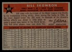 1958 Topps #477  All-Star  -  Bill Skowron Back Thumbnail