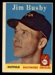 1958 Topps #28   Jim Busby Front Thumbnail