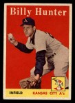 1958 Topps #98 WN Billy Hunter  Front Thumbnail