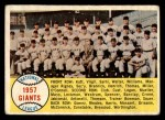 1958 Topps #19  Giants Team Checklist  Front Thumbnail