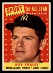 1958 Topps #493  All-Star  -  Bob Turley Front Thumbnail
