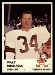1961 Fleer #18  Walt Michaels  Front Thumbnail
