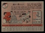 1958 Topps #58 WT Art Schult  Back Thumbnail