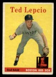 1958 Topps #29   Ted Lepcio Front Thumbnail