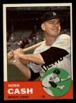 1963 Topps #445 ERR Norm Cash  Front Thumbnail