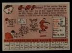 1958 Topps #20 WN  Gil McDougald Back Thumbnail