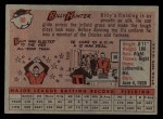 1958 Topps #98 YN  Billy Hunter Back Thumbnail