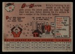 1958 Topps #98 WN  Billy Hunter Back Thumbnail