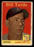 1958 Topps #23 *YN* Bill Tuttle  Front Thumbnail