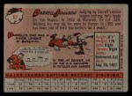 1958 Topps #61 WN  Darrell Johnson Back Thumbnail