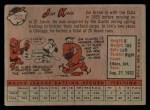 1958 Topps #332  Jim King  Back Thumbnail