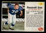 1962 Post #19   Roosevelt Grier Front Thumbnail