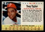 1963 Post Cereal #178  Tony Taylor  Front Thumbnail