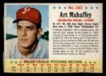 1963 Post Cereal #183   Art Mahaffey Front Thumbnail