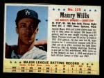 1963 Post Cereal #115   Maury Wills Front Thumbnail