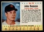 1963 Post Cereal #76   John Romano Front Thumbnail