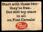 1962 Post Cereal #5 AD  Mickey Mantle Back Thumbnail
