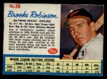 1962 Post Cereal #29  Brooks Robinson   Front Thumbnail
