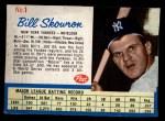 1962 Post Cereal #1   Bill Skowron  Front Thumbnail