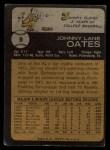 1973 Topps #9   Johnny Oates Back Thumbnail