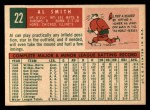 1959 Topps #22   Al Smith Back Thumbnail