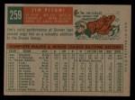 1959 Topps #259  Jim Pisoni  Back Thumbnail