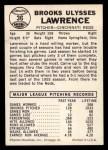 1960 Leaf #36  Brooks Lawrence  Back Thumbnail