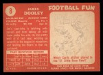 1958 Topps #8  James Dooley  Back Thumbnail