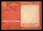 1958 Topps #90   Sonny Jurgensen Back Thumbnail