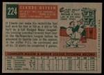 1959 Topps #224   Claude Osteen Back Thumbnail